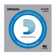 D'Addario PL015 Corda Singola per Chitarra Acustica/Elettrica
