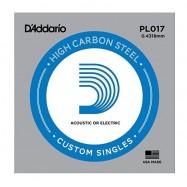 D'Addario PL017 Corda Singola per Chitarra Acustica/Elettrica