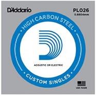 D'Addario PL026 Corda Singola per Chitarra Acustica/Elettrica