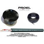 Proel HPC210BK Cavo Microfonico al Metro 2 Poli + Massa Nero (1 Metro)