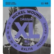 D'ADDARIO EXL115 011-49 x Chitarra Elettrica