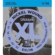 D'ADDARIO EXL116 NICKEL WOUND MEDIUM - 011/052