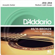 D'ADDARIO EZ920 AMERICAN BRONZE CORDIERA PER CHITARRA ACUSTICA 012/054