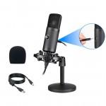 RENTON ST300 USB PodCaster Microfono da Studio con Scheda Audio Integrata
