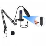 RENTON ST300 USB Pod Caster Bundle Microfono da Studio con Accessori
