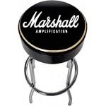 Marshall Guitar Bar Stool 70cm Sgabello in alluminio con Logo