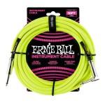 Ernie Ball - 6080 Cavo Jack Mono Braided Neon Yellow 2,5 m