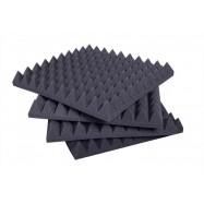 Pannello Fonoassorbente Piramidale 6 cm D25 50 X 50 Grigio Antracite