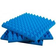 Pannello Fonoassorbente Piramidale 6 cm D35 50 X 50 Colore Blu