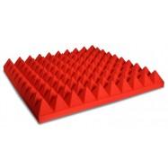 Pannello Fonoassorbente Piramidale 6 cm D35 50 X 50 Colore Rosso